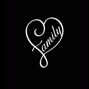 Family Heart Window Decals