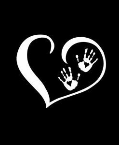 Heart Zombie Hands Decal Sticker