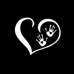 Heart Zombie Hands Decal Sticker