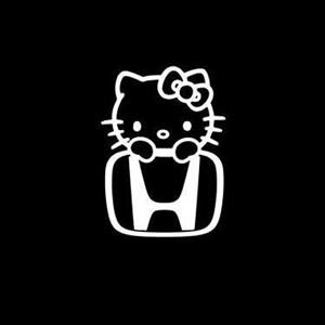 Honda Hello Kitty JDM Stickers a2