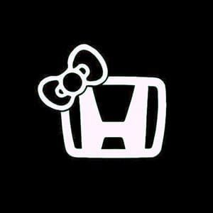 Honda Hello Kitty Bow JDM Stickers