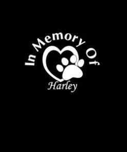 In Loving Memory Decals Pet Heart