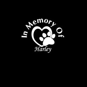 In Loving Memory Decals Pet Heart