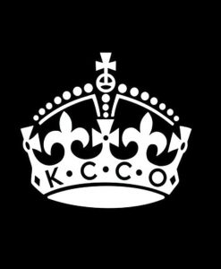 KCCO Keep Calm Crown Sticker