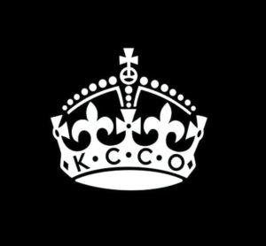 KCCO Keep Calm Crown Sticker