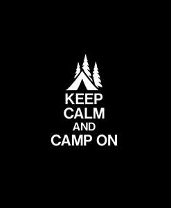 Keep Calm and Camp Decal Sticker