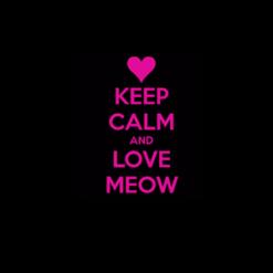 Keep Calm and Love Meow Decal