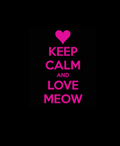 Keep Calm and Love Meow Decal