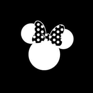 Minnie Mouse Bow Window Decals