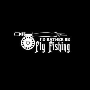 Rather Be Fly Fishing Decals