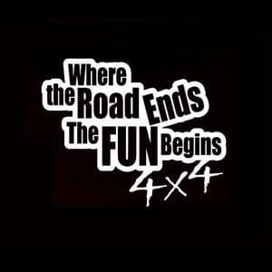 Road Ends Fun Begins Truck Decals