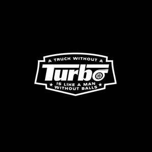 No Balls Turbo Diesel Truck Decals