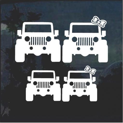 Jeep Family Window Decal Set