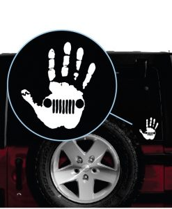 Jeep Wave Hand Decal Sticker aa