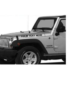 Jeep hood custom text decal stickers