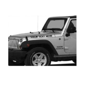 Jeep hood custom text decal stickers