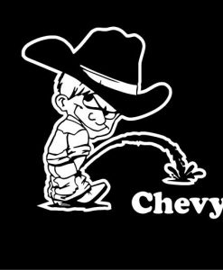 Calvin Piss On Chevy Window Decal