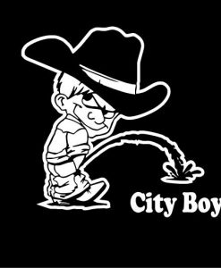 Calvin Piss On City Boy Decals