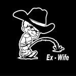 Calvin Piss On Ex Wife Decals
