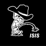 Calvin Piss On ISIS Decals II