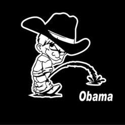 Calvin Piss On Obama Decals