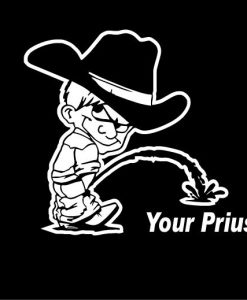 Calvin Piss On Your Prius Decals