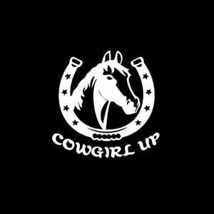 Cowgirl Up A2 Window Decal sticker