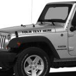 Jeep Hood Decals Set Custom Text