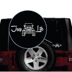 jeep life window decal sticker a2