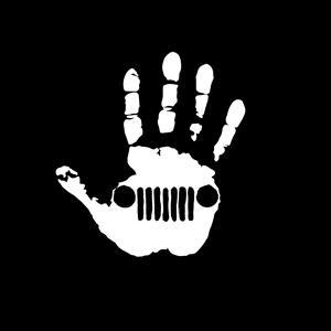 Jeep Wave Hand Decal Sticker