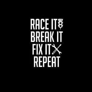 Race Break Fix Repeat Decal Sticker