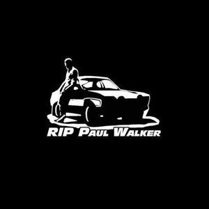 Paul Walker Rip Car Decal Sticker