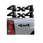 4X4 Pair A7 Sticker Set of 2 - Ford Ford Chevy Dodge Toyota - 4x4 Decals
