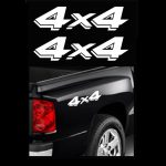 4X4 Pair A12 Sticker Set of 2 - Ford Ford Chevy Dodge Toyota - 4x4 Decals