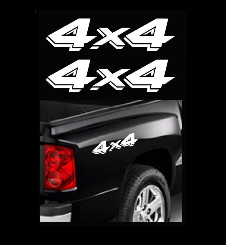 4X4 Truck Bedside Decal Pair A12