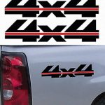 4X4 Pair A14 Sticker Set of 2 - Ford Ford Chevy Dodge Toyota - 4x4 Decals
