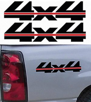 4X4 Truck Bedside Decal Pair A14