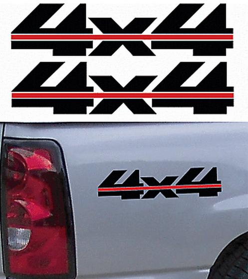 X Bedside Pair A Vinyl Decal Stickers - 4x4 truck decals