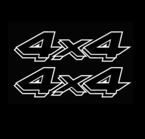 4X4 Truck Bedside Decal Pair A13