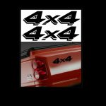 4X4 Pair A1 Sticker Set of 2 - Ford Ford Chevy Dodge Toyota - 4x4 Decals