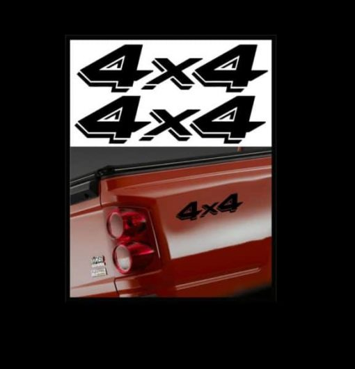 4X4 Truck Bedside Decal Pair A2