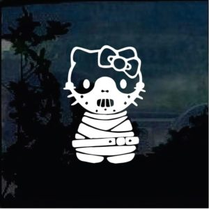Hanibal Lector Hello Kitty Decal Sticker