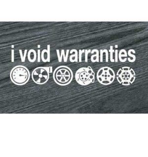I Void Warranties JDM Car Window Decal Stickers