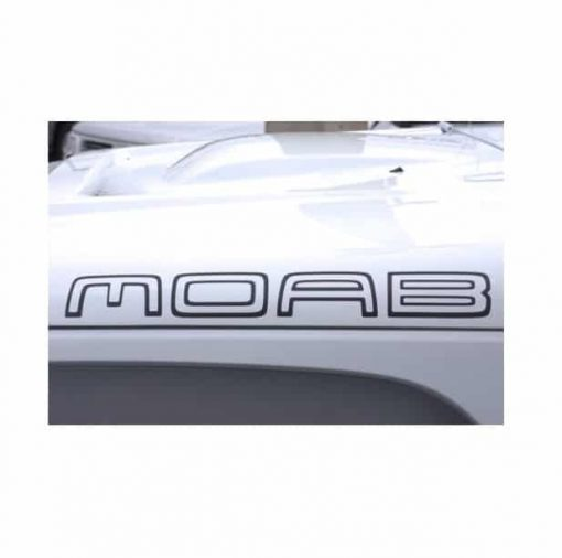 Jeep Moab Hood Decal Set Decal Sticker