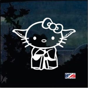 Star Wars Yoda Hello Kitty Decal Sticker