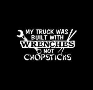 Built with Wreches not Chopsticks Decal
