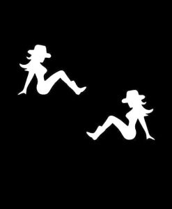 Cowgirl Mudflap Decal Stickers Set of 2