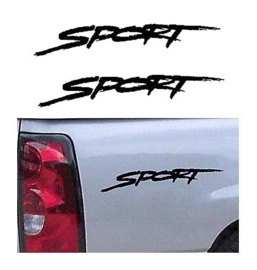 Dodge Sport Bedside Decal Pair a1