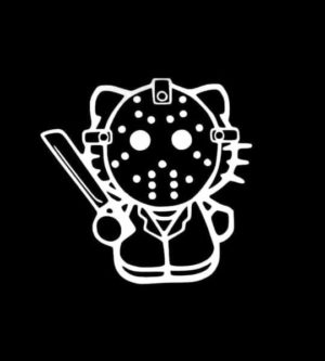 Hello Kitty Jason Vorhees Decal Sticker