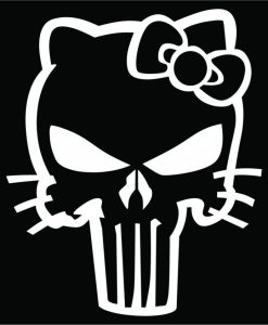 Punisher Hello Kitty Truck Decal